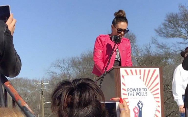Alyssa Milano Speaks at Power to the Polls – Atlanta, Georgia