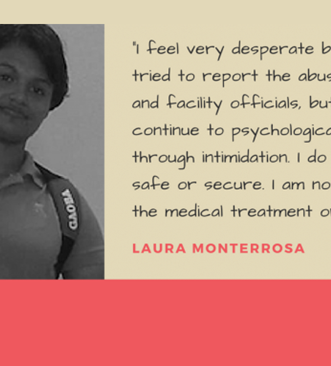 Suffering in Silence: Sexual Abuse in Immigrant Detention Centers – Support Laura Monterrosa