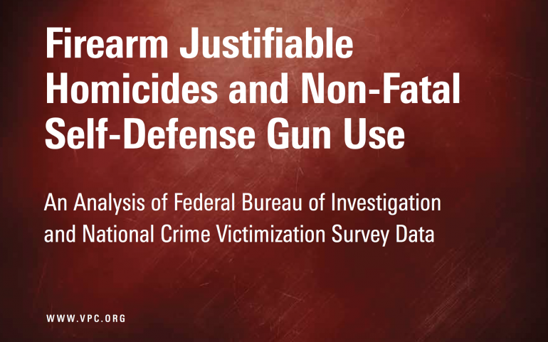 Self-Defense Gun Use is Rare, New Violence Policy Center Study Confirms