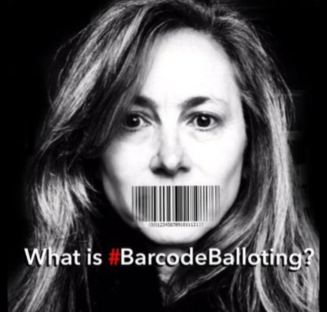 What is #BarcodeBalloting?